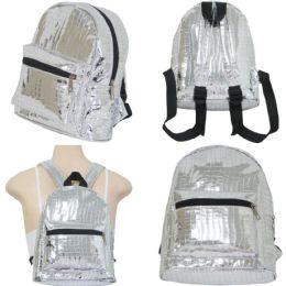 "18 Units of 10"" Mini Backpacks - Metallic Prints - Backpacks 15"" or Less"