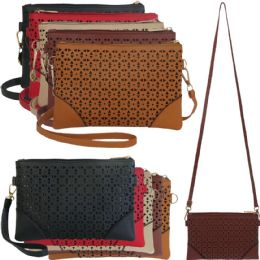 36 Units of Lazer Cut Crossbody Bags With/ Detachable Straps - Shoulder Bags & Messenger Bags
