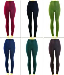 72 Units of Women's Seamless Leggings with/ Back Pockets - Assorted Colors - One Size Fits Most - Womens Leggings
