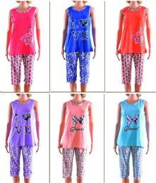 72 Units of Women's Pajama Set - Assorted Prints - Sizes MediuM-Xxl - Women's Pajamas and Sleepwear