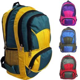 "30 Units of 18"" Eagle Sport Backpacks - Assorted Colors - Backpacks 18"" or Larger"
