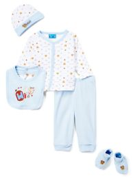 "24 Units of Newborn Boy's ""wild Bear"" Set - Bear Prints - Sizes 0-9m - Newborn Boys Apparel"