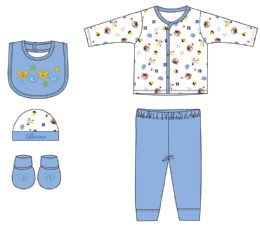 24 Units of Newborn Boy's Sleep Set - Assorted Graphic Prints - Sizes 0-9m - Newborn Boys Apparel
