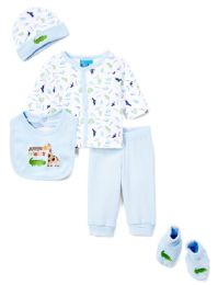 "24 Units of Newborn Boy's ""jungle Friends"" Set - Animal Prints - Sizes 0-9m - Newborn Boys Apparel"