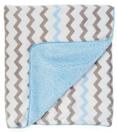 24 Units of Sherpa Lining Baby Blanket - Baby Accessories