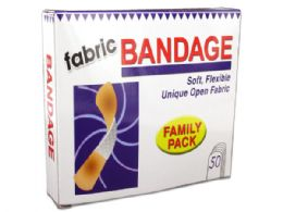 72 Units of Flexible Fabric Bandages - First Aid and Bandages
