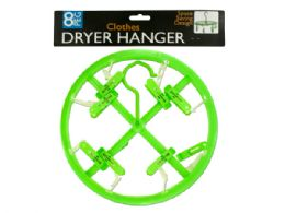 72 Units of 8-Clip Clothing Dryer Hanger - Hangers