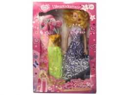 12 Units of Prom Queen Fashion Doll with Dresses Set - Toy Sets