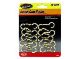 72 Units of Brass Cup Hooks - Hooks