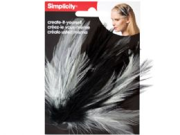 144 Units of simplicity feather plume headband accent - Pom Poms and Feathers