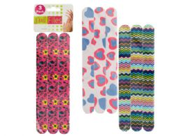 72 Units of Foam Nail Files - Manicure and Pedicure Items