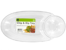 36 Units of Large Chip & Dip Tray - Party Paper Goods