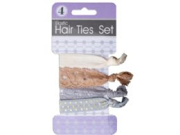 72 Units of Elastic Hair Ties Set - Hair Accessories