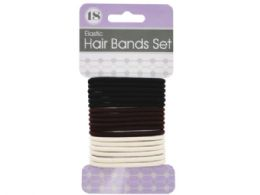 72 Units of Basic Colors Hair Bands Set - Hair Accessories