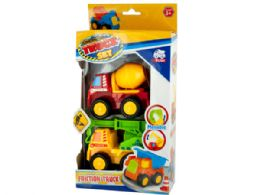 12 Units of Mini Construction Friction Truck Set - Toy Sets