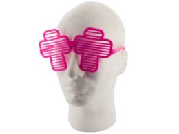 36 Units of Colored Cross Party Favor Shutter Shades - Party Favors