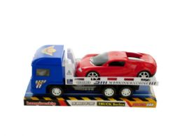 12 Units of Friction Trailer Truck with Race Car Set - Toy Sets