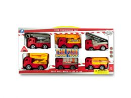 6 Units of Fire Engine Truck Set - Cars, Planes, Trains & Bikes