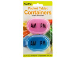72 Units of AM/PM Pocket Tablet Containers Set - Pill Boxes and Accesories