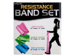 12 Units of Resistance Band Set with 3 Tension Levels - Workout Gear