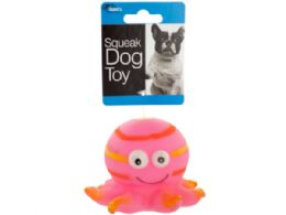 36 Units of Octopus Squeak Dog Toy - Pet Toys