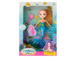 12 Units of Mermaid Doll with Hairbrush - Hair Accessories