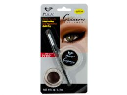 72 Units of Yellow Cream Eyeliner with Brush - Eye Shadow & Mascara
