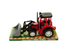 12 Units of Friction Powered Toy Farm Tractor - Toy Sets