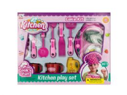 12 Units of Kitchen Play Set with Food & Hot Plate - Toy Sets
