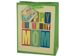 144 Units of Medium Block Letter Birthday Gift Bag - Gift Bags Everyday