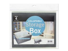 12 Units of Collapsible Storage Box With 4 Compartments - Storage & Organization