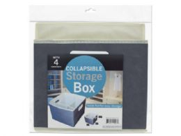 12 Units of Small Collapsible Storage Box With 4 Compartments - Storage & Organization
