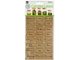72 Units of Clear Kitchen Canister Labels - Kitchen Gadgets & Tools