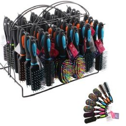 48 Units of Hair Brush Assortment with Display Rack - Hair Brushes & Combs