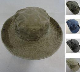 24 Units of Washed Floppy Boonie Hat [Solid] - Cowboy & Boonie Hat