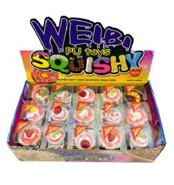 48 Units of Slow Rising Squishy Toy Cake Assortment Display Box - Slime & Squishees
