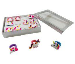 120 Units of Silicone Unicorn Ring - Girls Toys