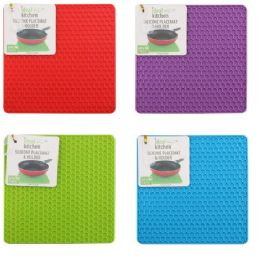 96 Units of Silicone Placemat & Holder Square - Placemats