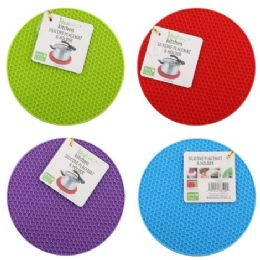 96 Units of Silicone Placemat & Holder Round - Placemats