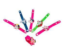96 Units of Light Up Silicone Unicorn Bracelet - Girls Toys