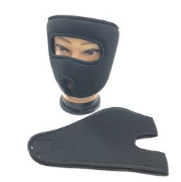 48 Units of Fleece Wrap Around Face Mask Black Only - Unisex Ski Masks