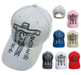 36 Units of Jesus Saves Crucifix Hat - Sun Hats