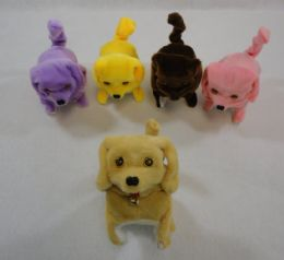 24 Units of Barking and Rolling Dog [Solid Color] - Plush Toys