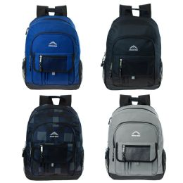 24 Units of 17 Inch Backpack In 4 Assorted Colors - Backpacks 17""
