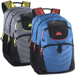 """24 Units of 19 Inch Rebel Deluxe Backpack With Padded Laptop Section - 2 Colors - Backpacks 18"""" or Larger"""