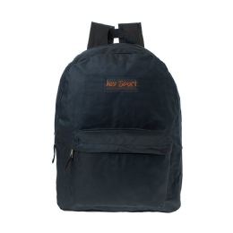 "36 Units of 15"" Inch Kids Classic Backpack in Black - Backpacks 15"" or Less"