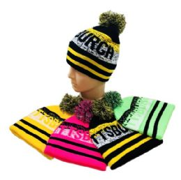 24 Units of Pittsburgh Pom Pom Knit Hat - Winter Beanie Hats