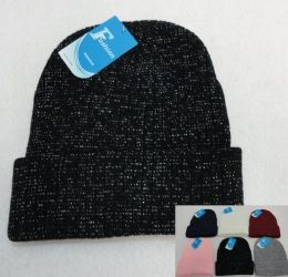 36 Units of Sparkly Winter Toboggan - Winter Beanie Hats