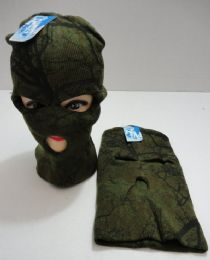 36 Units of Knitted Ski Mask Hardwoods Camo - Unisex Ski Masks