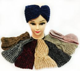 36 Units of Knitted Multicolored Simple Design Headbands - Ear Warmers